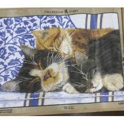 Канва с рисунком Котята