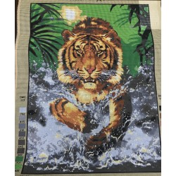 Канва с рисунком Тигр