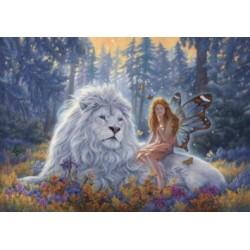 Канва с рисунком «Сказочный лес»