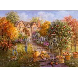Канва с рисунком « Осенние хлопоты»