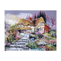 Канва с рисунком «Цветущий сад»