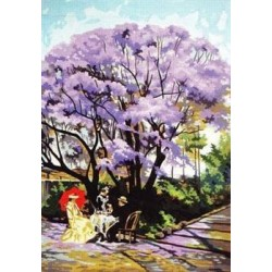 Канва с рисунком «Под деревом»
