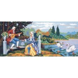 Канва с рисунком «Песни любви»