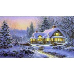 Канва с рисунком «Сказочная зима»