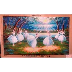 Канва с рисунком « Балерины»