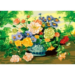 Канва с рисунком «Букет с Розами»