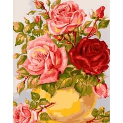 Канва с рисунком «Нежные розы»