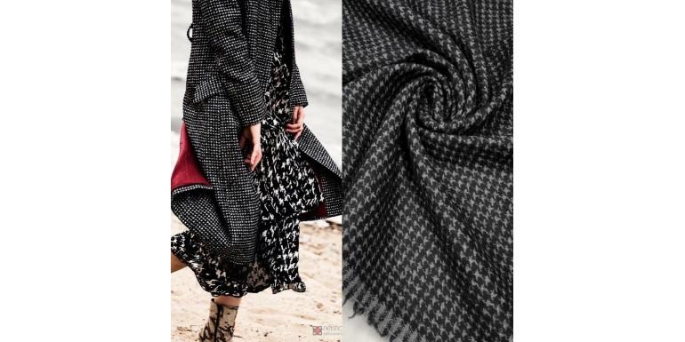 Итальянская пальтовая ткань в гусиную лапку