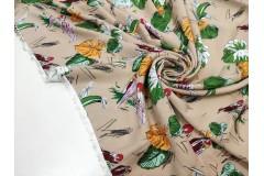 Плательная ткань с попугаями