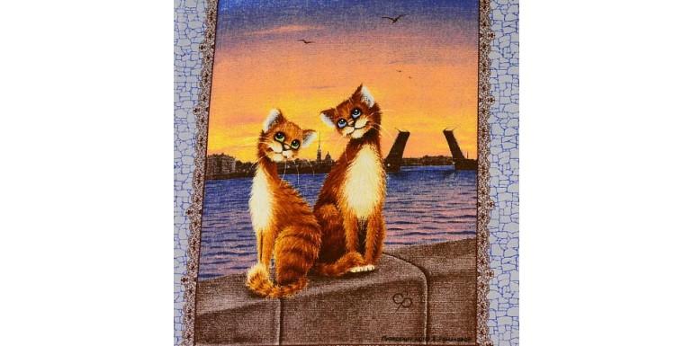 Новая рогожка с милыми котами!