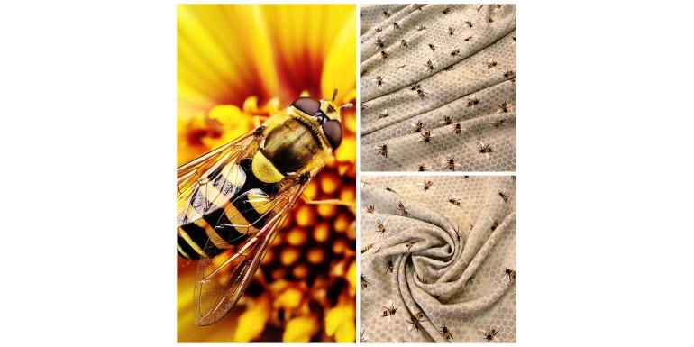 Новая плательная вискоза с пчёлками