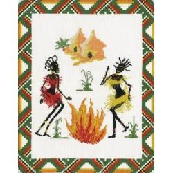 """Набор для вышивания крестом """"Танец Африки"""""""